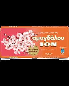 ΙΟΝ Αμυγδάλου -  Σοκολάτα Γάλακτος με Καραμελωμένα Αμύγδαλα 90gr