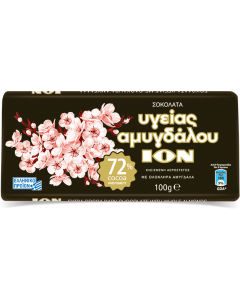 ION Amygdalou - Extra Bitter 72% with Whole Almonds 100gr